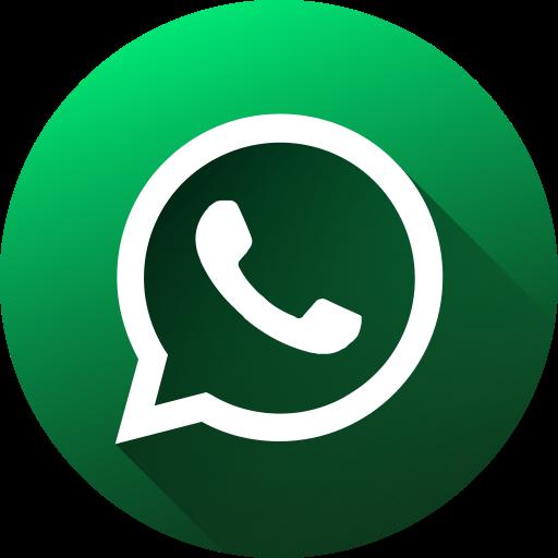Social media circle long. Whatsapp icon png