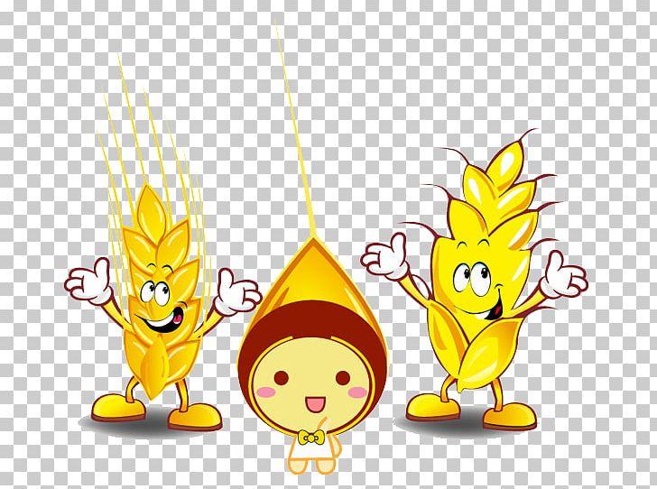 Cartoon illustration png art. Wheat clipart animated