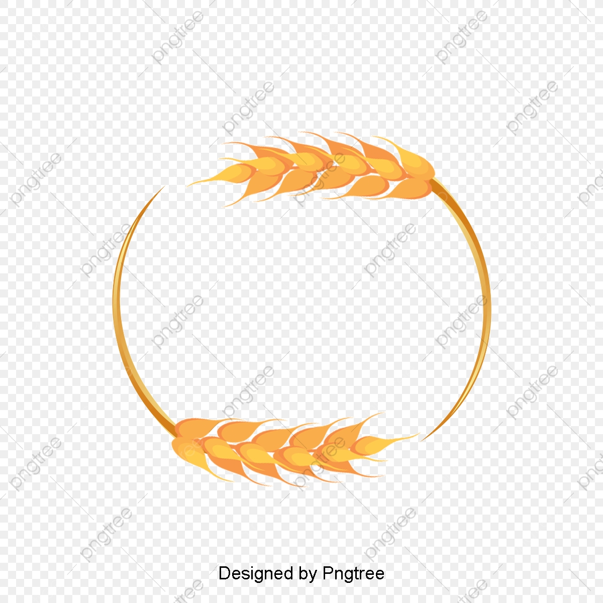 Wheat clipart banner. Beautiful border frame vector