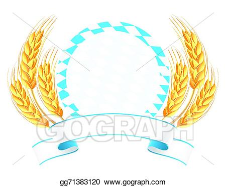 Eps vector bavaria with. Wheat clipart banner