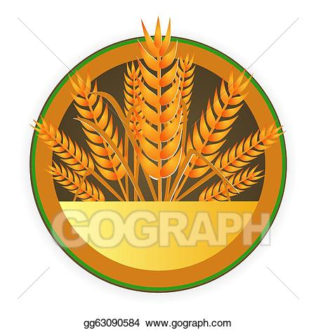 Vector stock modern sign. Wheat clipart crest