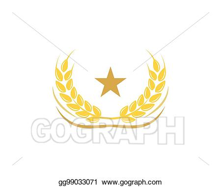 Free download clip art. Wheat clipart crest