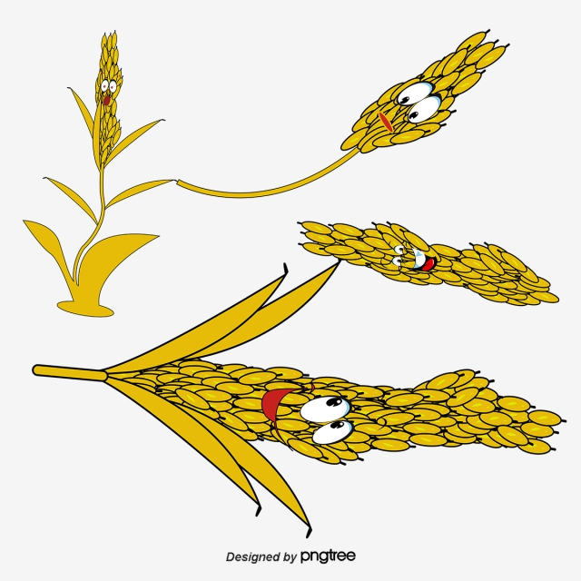 Wheat clipart cute cartoon. Png vector psd and