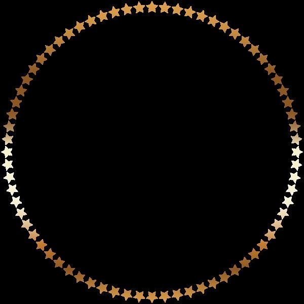 Stars frame pita pinterest. Round border png