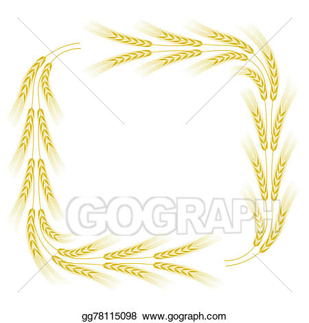 Drawing gg gograph . Wheat clipart frame