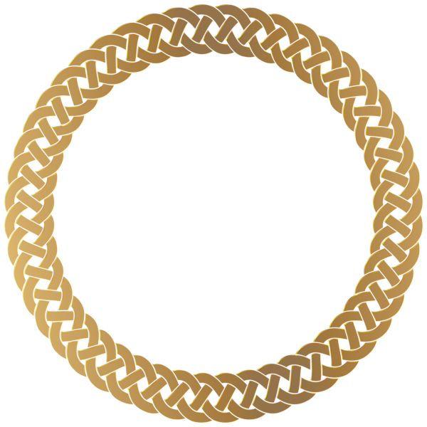 Wheat clipart gold paisley. Golden round frame border