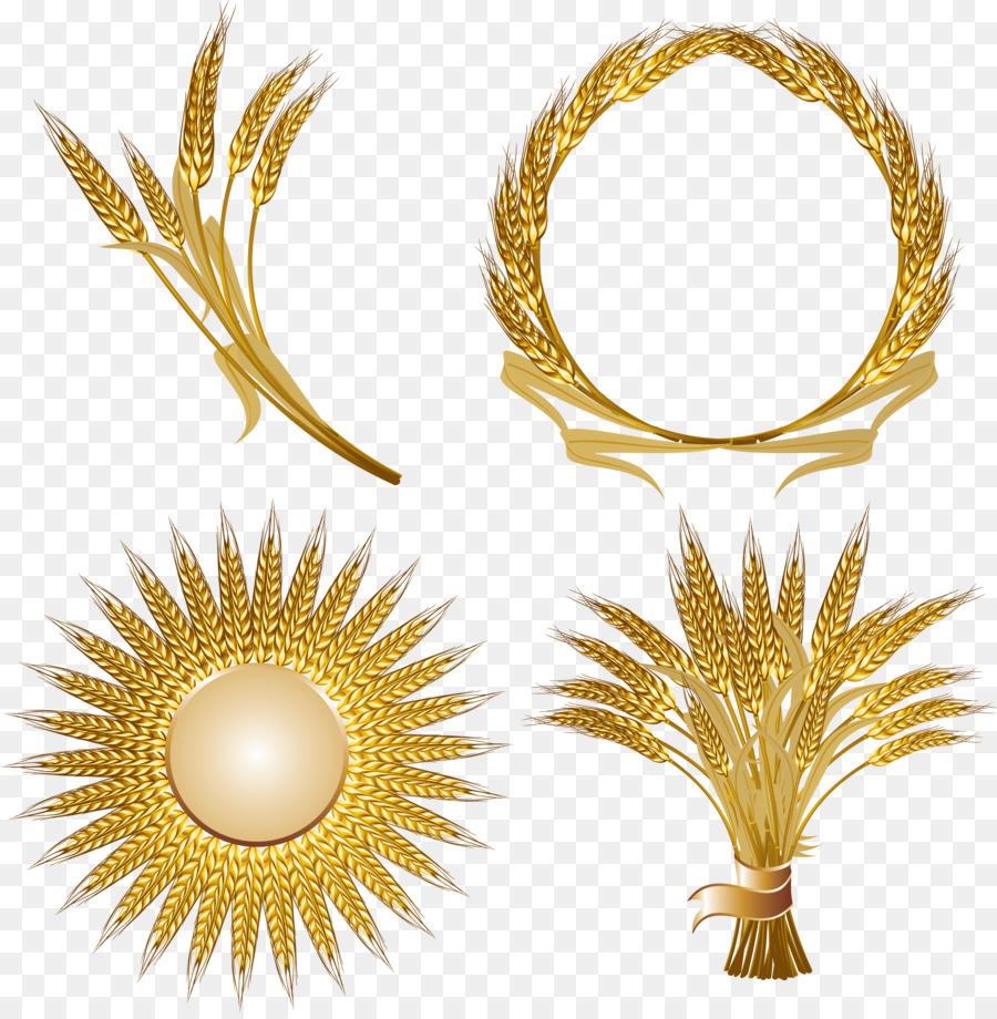 Wheat clipart gold wheat. Family logo transparent clip