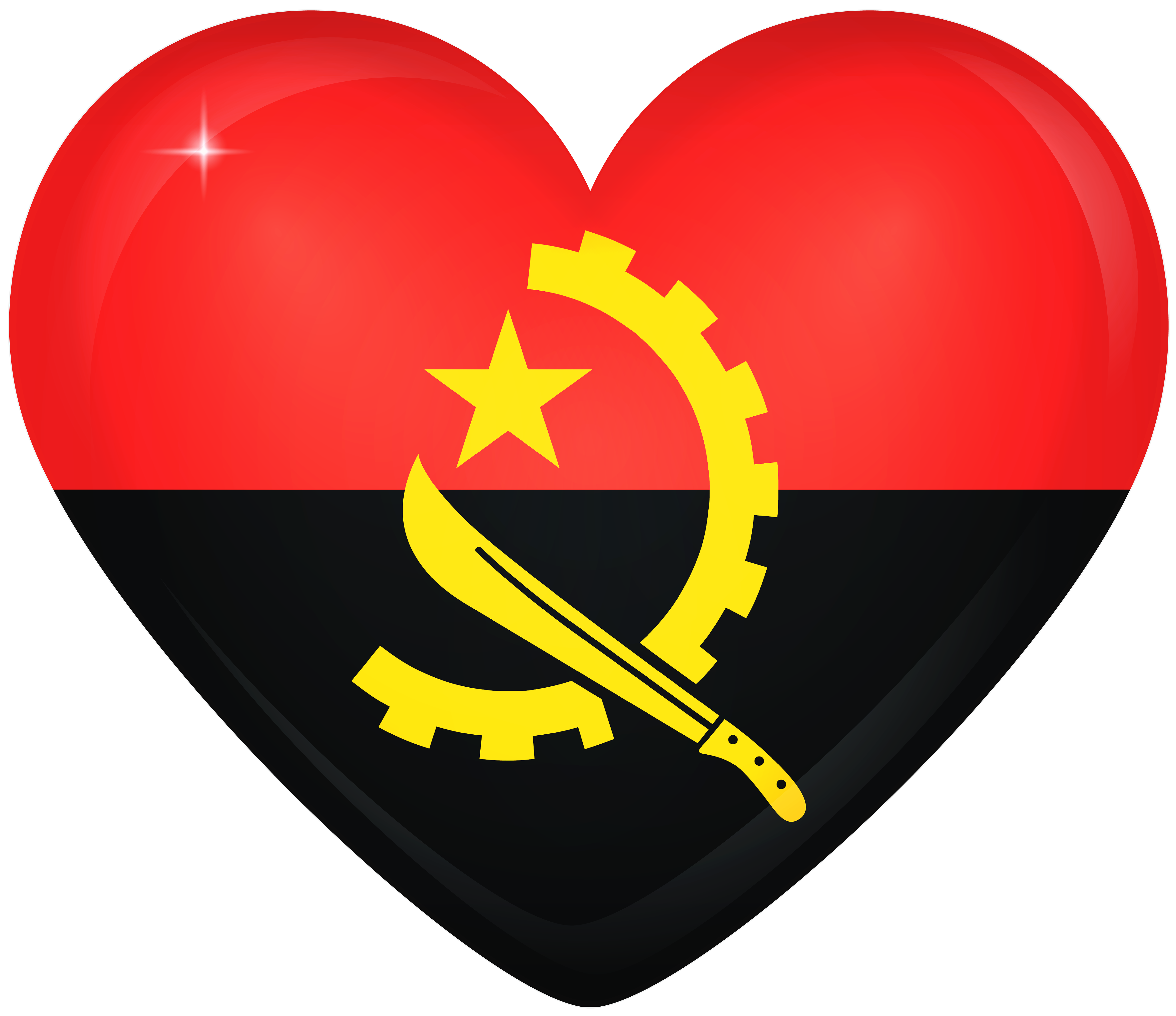 Wheat clipart heart. Angola large flag gallery