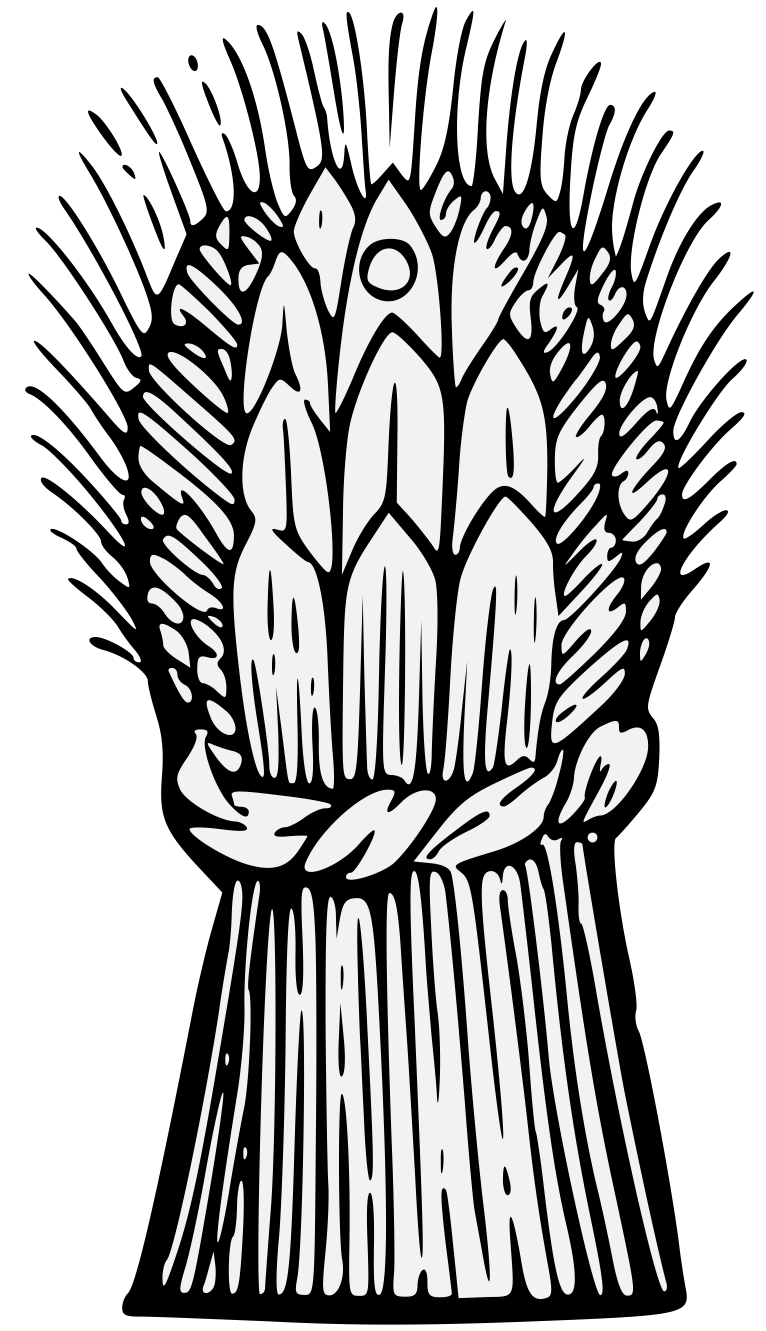 Garb traceable art pdf. Wheat clipart heraldic