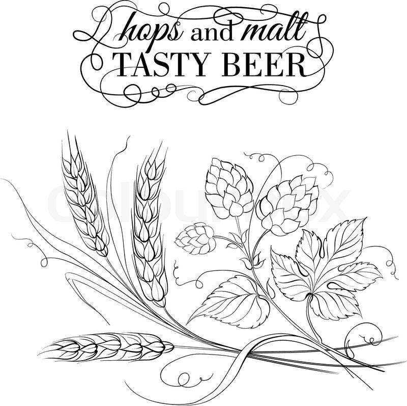 Pin on pretty . Wheat clipart hop