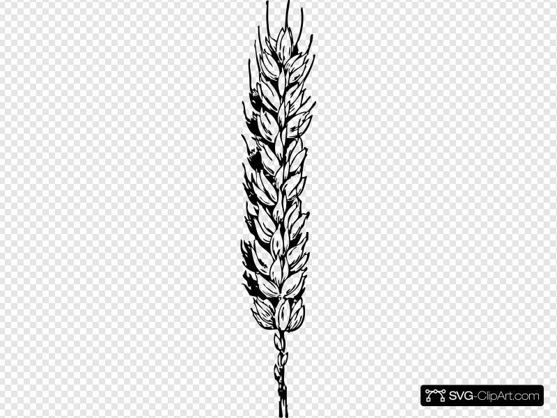 Wheat clipart icon. Clip art and svg