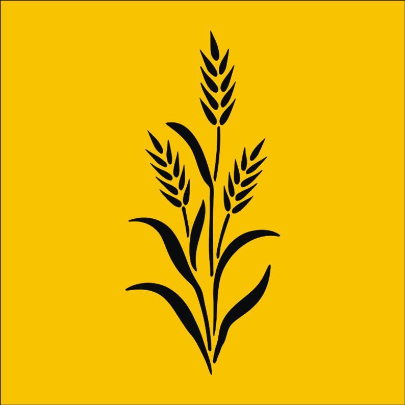 Stem svg png dxf. Wheat clipart jpeg