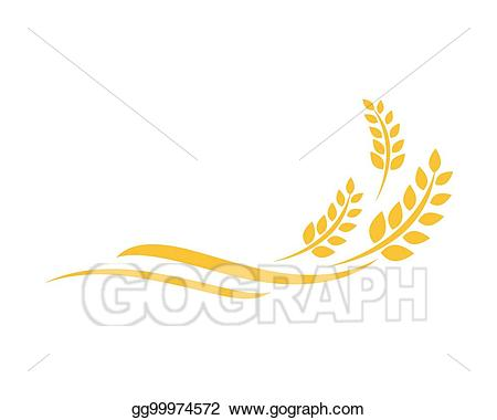 Vector template illustration . Wheat clipart logo