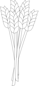 Wheat clipart outline. Black and white clip