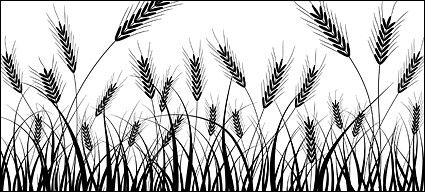 Wheat clipart silhouette. Silhouettes vector material download