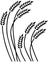 Wheat clipart simple. X free clip art