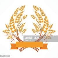 Wreath stock vectors me. Wheat clipart stylized