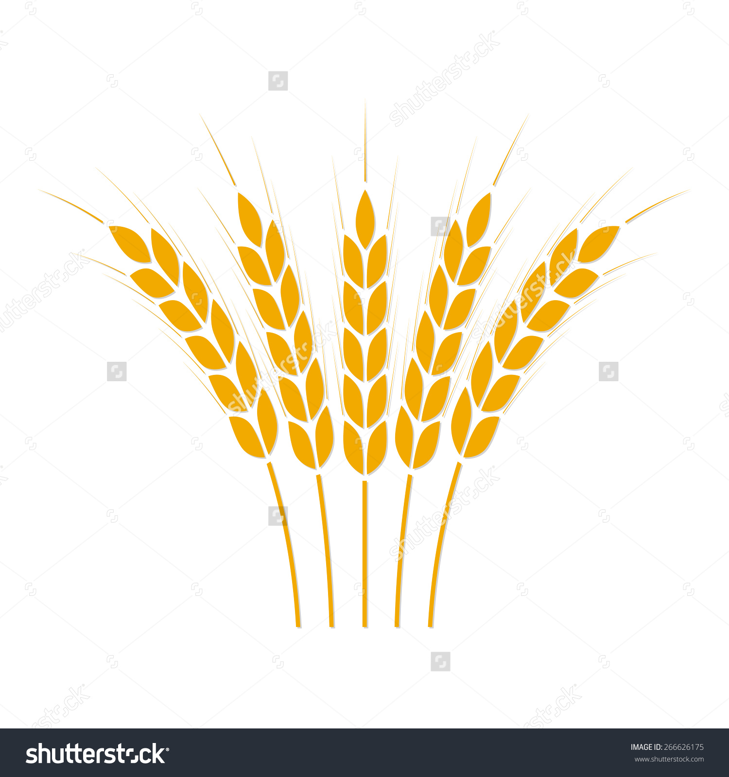 Wheat clipart symbolism. Crop symbol isolated on