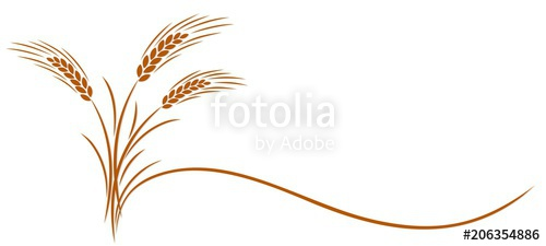 Ear symbol stock image. Wheat clipart symbolism