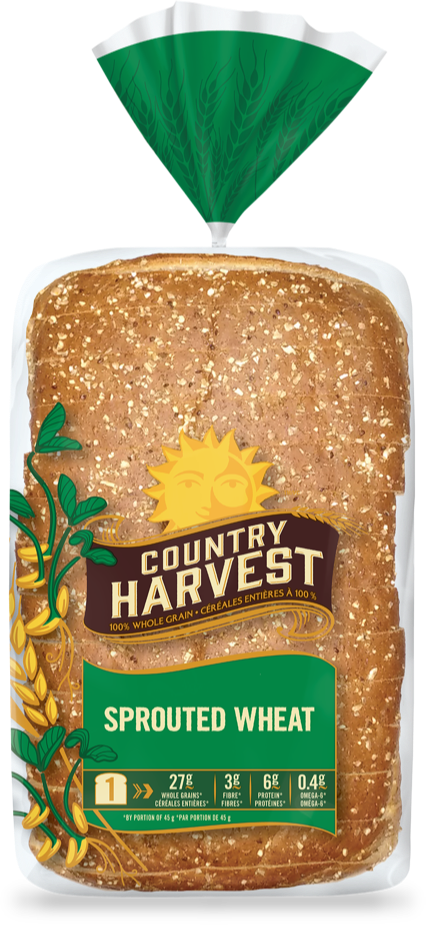 Wheat clipart wheat bread. Sprouted country harvest chsproutedwheatdfacehr