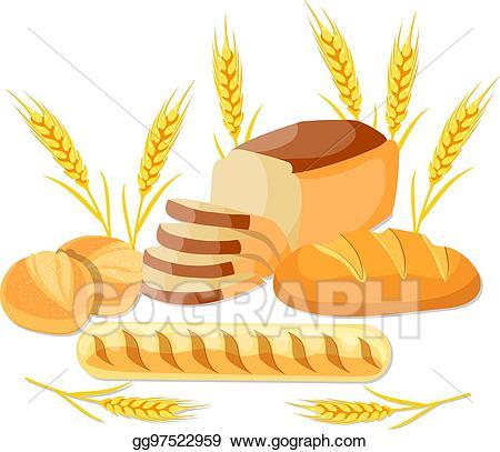 Vector art whole eps. Wheat clipart wheat bread