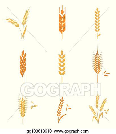 Vector art cereals icon. Wheat clipart wheat product