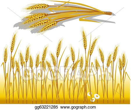 Clip art vector in. Wheat clipart wheat spike