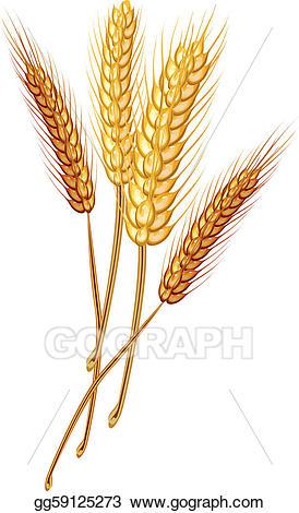 Clip art vector eps. Wheat clipart wheat stock