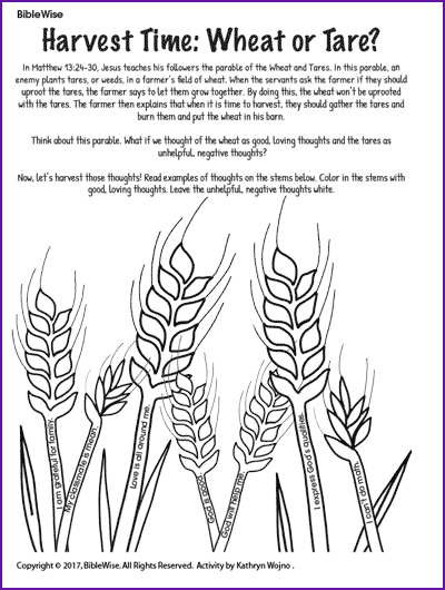 Wheat clipart wheat tares. Pin on parable