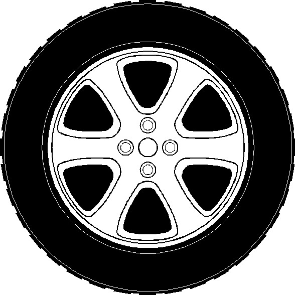 Wheel clipart. And tire