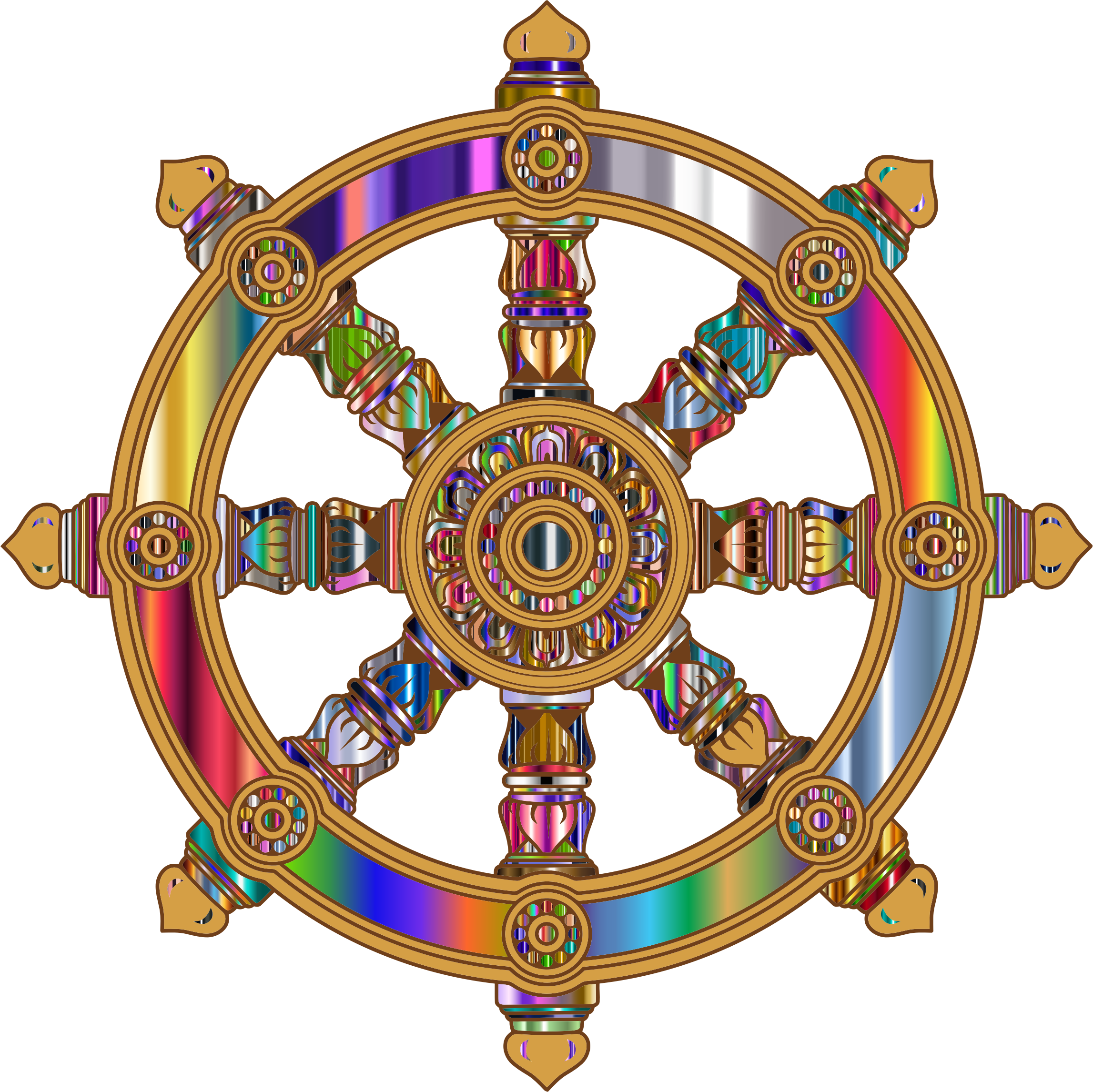 Prismatic ornate dharma big. Wheel clipart 3 wheel