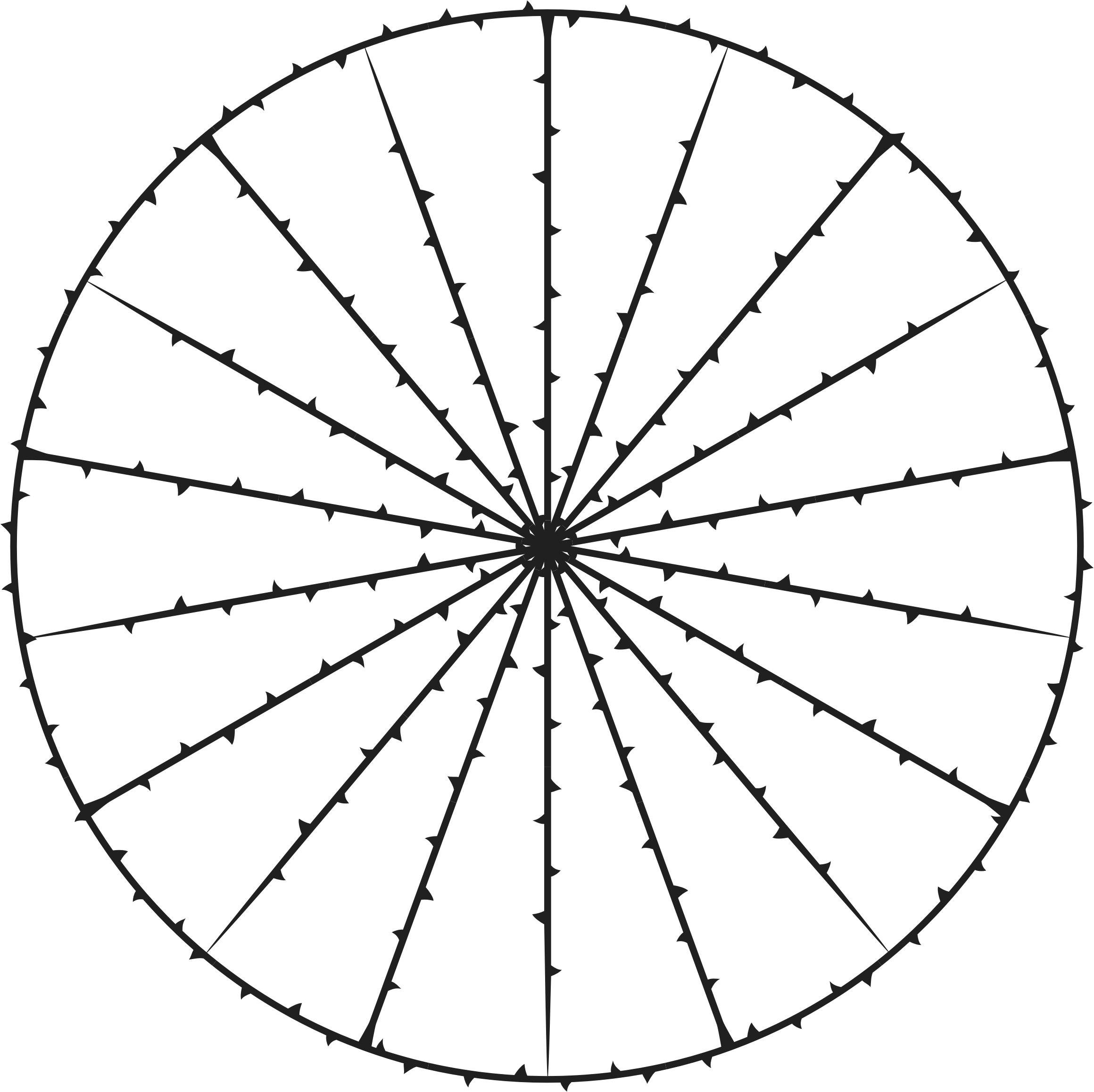 Wheel clipart black and white. Of thorns big image