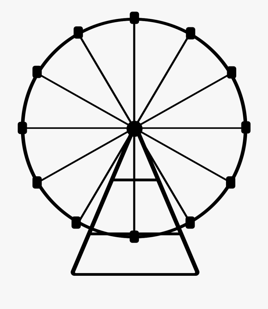 Ferris png . Wheel clipart black and white