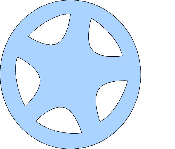 Clip art at clker. Wheel clipart blue