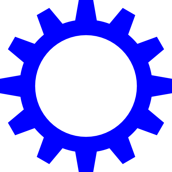 Wheel clipart blue. Cog clip art at