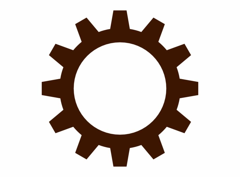 Wheel clipart brown. Gears gear clip art