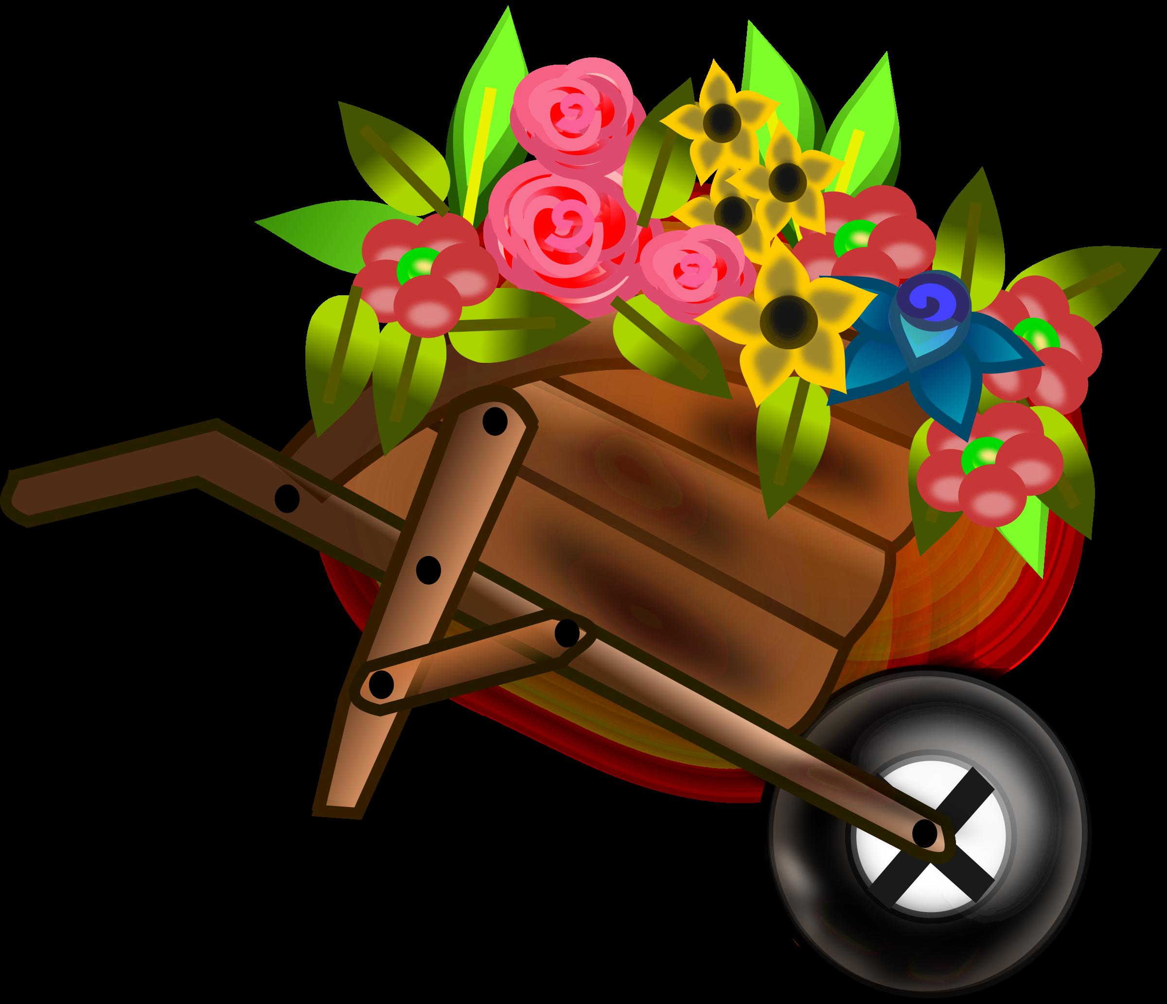 Flower girl big image. Wheel clipart brown