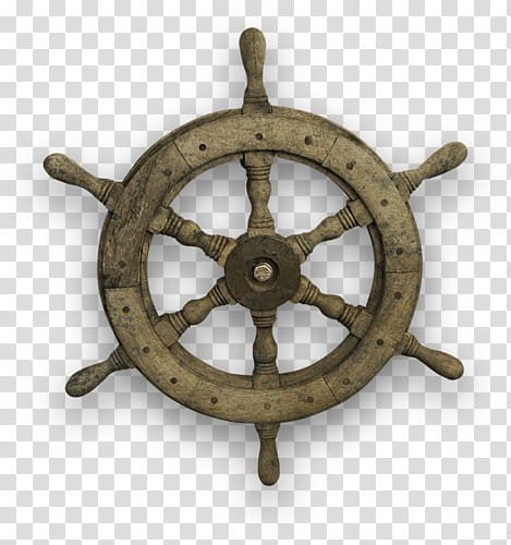 Ship s transparent background. Wheel clipart brown