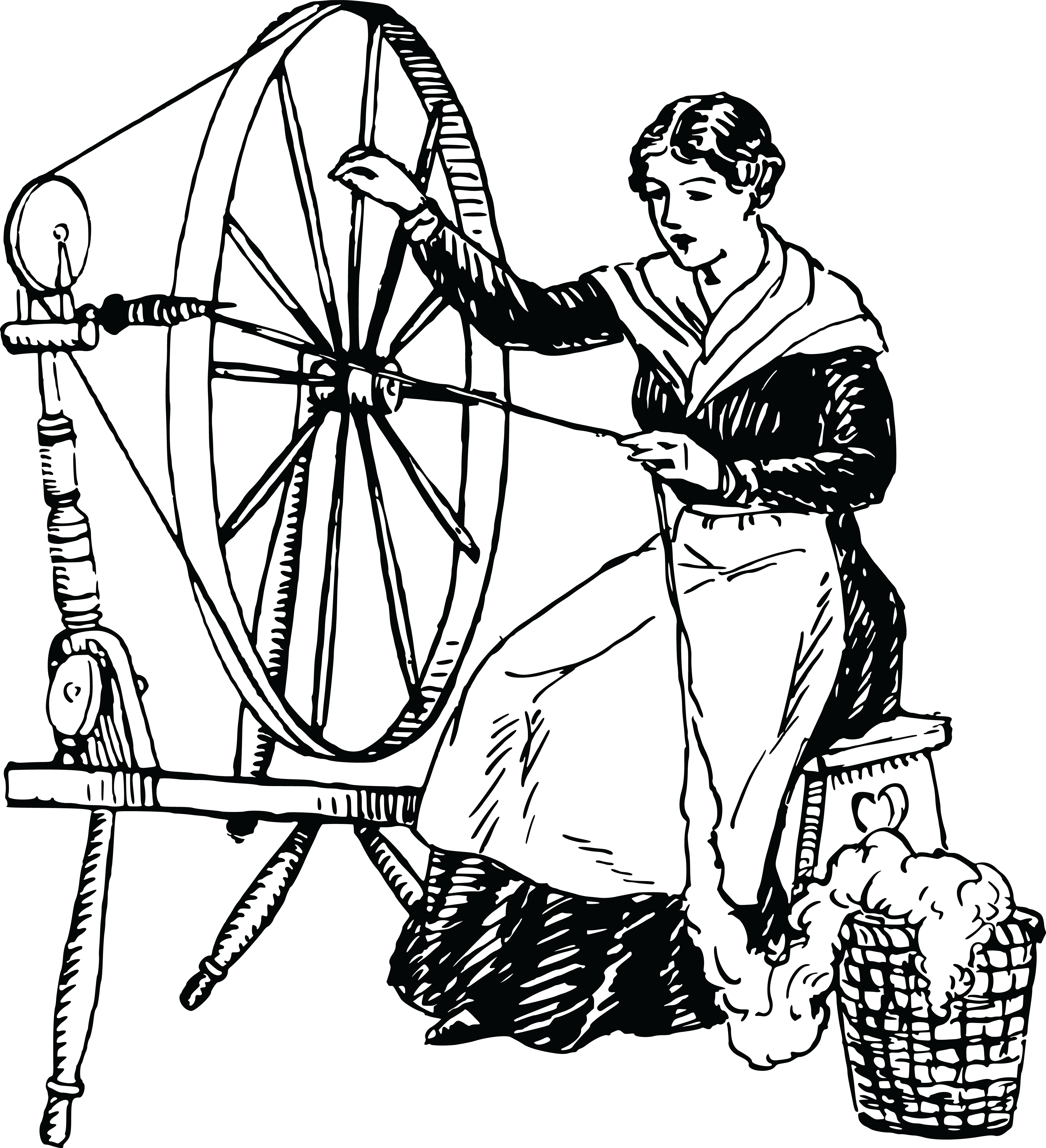 collection of spinning. Wheel clipart bullock cart