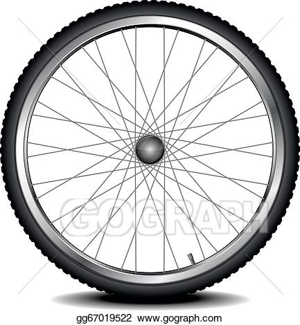 Wheel clipart bycycle. Eps vector bike stock