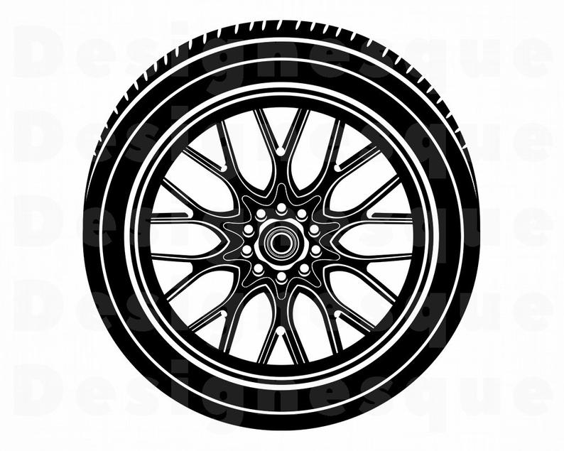 Svg tire files for. Wheel clipart car wheel