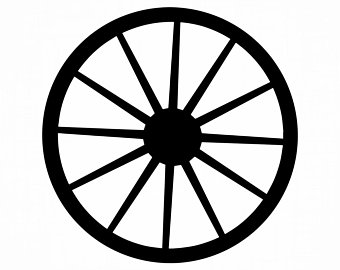 Silhouette etsy . Wheel clipart carriage wheel