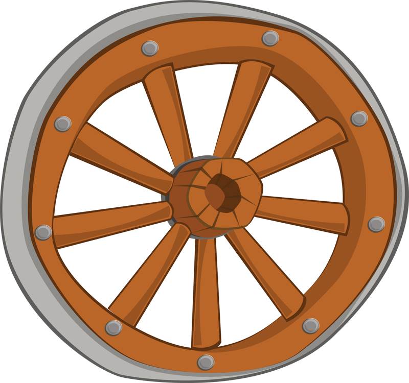 Wheel clipart carriage wheel. Cliparts zone