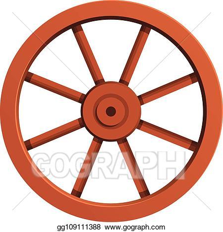 Wheel clipart cartoon. Vector cart icon style