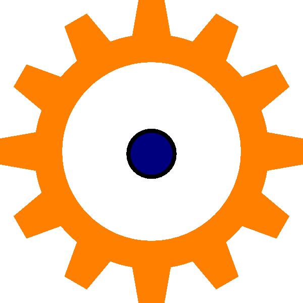 Orange cog clip art. Wheel clipart cirle
