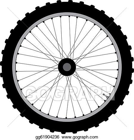 Vector art bicycle eps. Wheel clipart cycle wheel