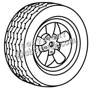 Wheel clipart drawing. Clip art b w