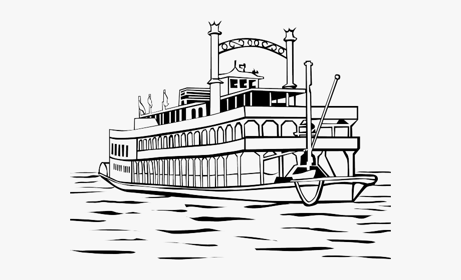 Wheel clipart ferry. Steamboat black and white