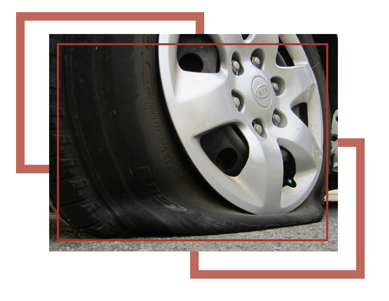 Change service and get. Wheel clipart flat tire