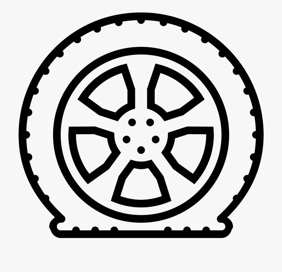 Drawing at getdrawings independence. Wheel clipart flat tire